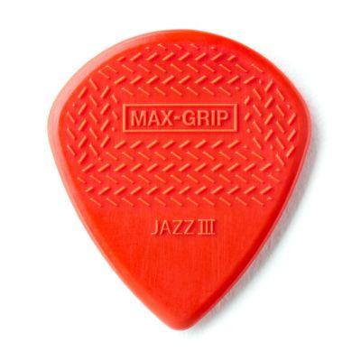 Jim Dunlop 471R3N-1 Max Grip Jazz III Nylon Kırmızı Pena