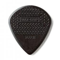 Jim Dunlop - Jim Dunlop 471R3S-1 Max Grip Jazz III Stiffo Siyah Pena