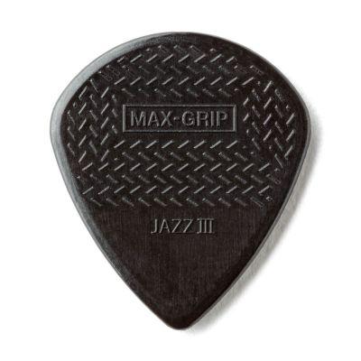 Jim Dunlop 471R3S-1 Max Grip Jazz III Stiffo Siyah Pena