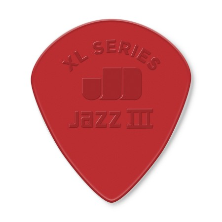 Jim Dunlop - Jim Dunlop 47RXLN Jazz III XL Nylon Kırmızı Pena