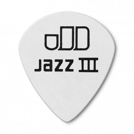 Jim Dunlop 482P0.73 Tortex White Jazz III Pena - Thumbnail