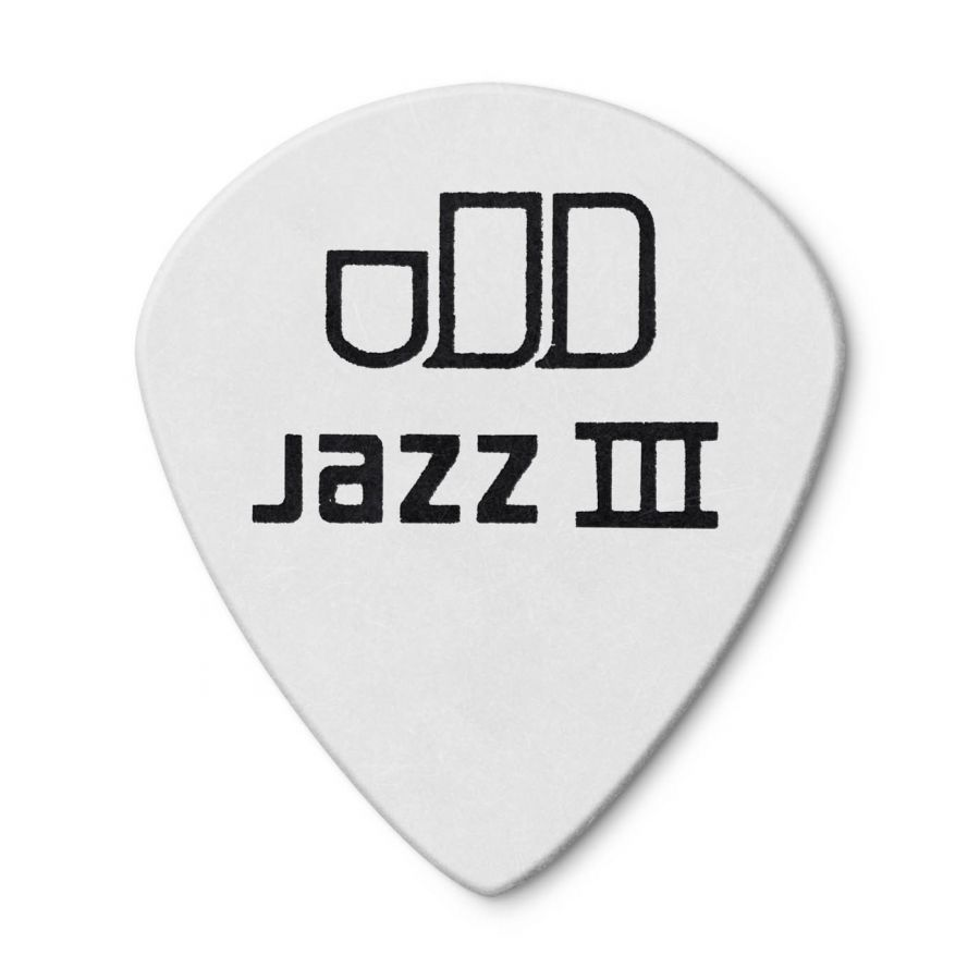 Jim Dunlop 482P0.73 Tortex White Jazz III Pena