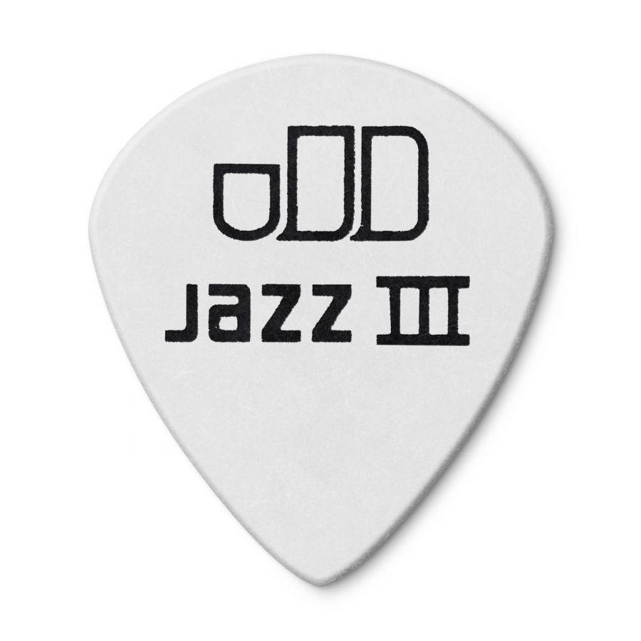 Jim Dunlop 482P0.88 Tortex White Jazz III Pena