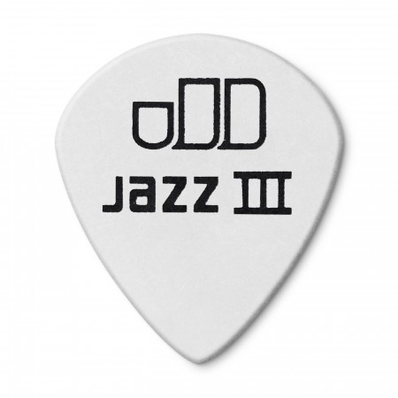 Jim Dunlop 482P1.00 Tortex White Jazz III Pena