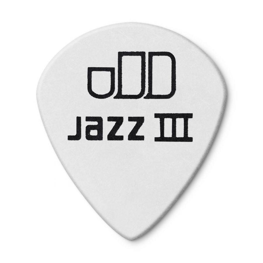 Jim Dunlop 482P1.00 Tortex White Jazz III Pena