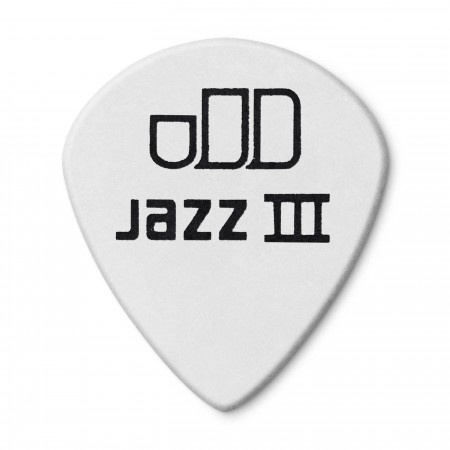 Jim Dunlop 482P1.14 Tortex White Jazz III Pena - Thumbnail