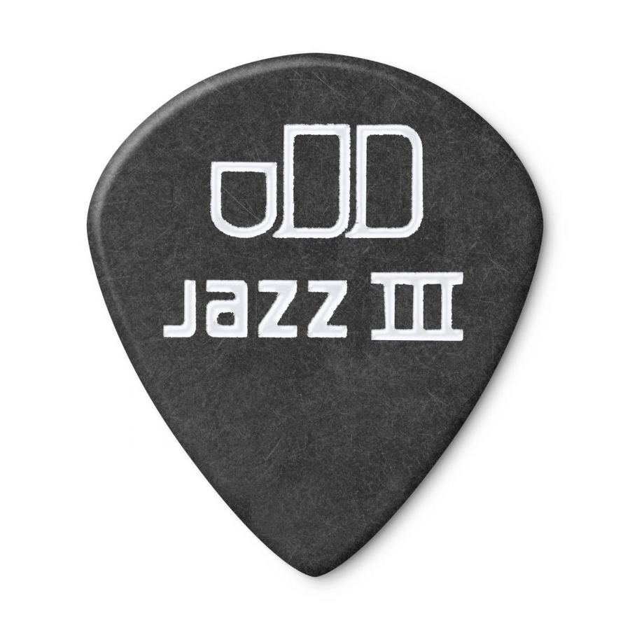 Jim Dunlop 482P1.35 Tortex Black Jazz III Pena