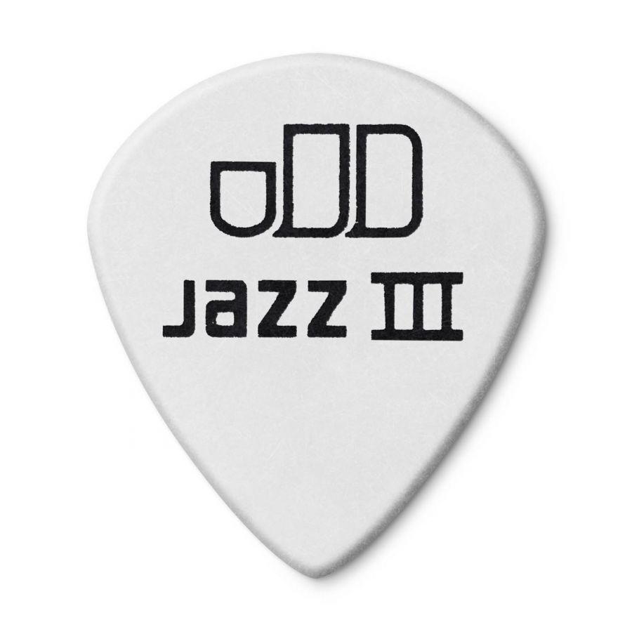 Jim Dunlop 482P1.35 Tortex White Jazz III Pena