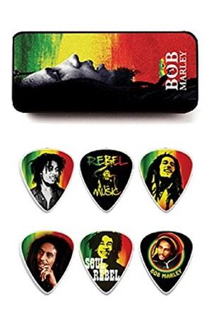 Jim Dunlop - Jim Dunlop Bob Marley 6'lı Thin Pena Seti