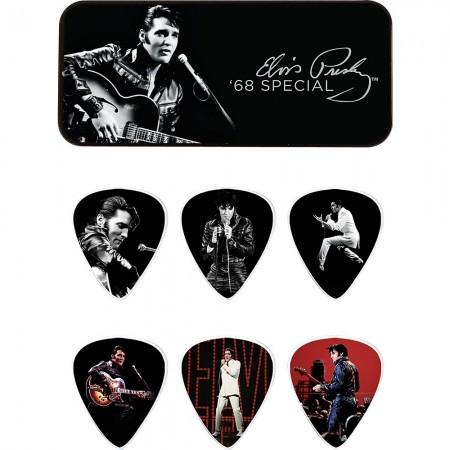 Jim Dunlop - Jim Dunlop Elvis Presley '68 Special Pick Tin 6 Medium Pena Seti