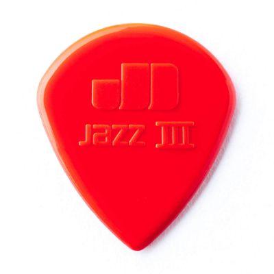 Jim Dunlop Jazz III Nylon Kırmızı Pena