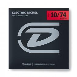Jim Dunlop DEN1074 Nickel Wound 8 Telli Elektro Gitar İçin Takım Tel (10-74)