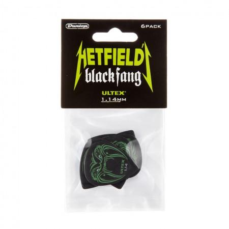 Jim Dunlop - Jim Dunlop PH112P114 Hetfields Black Fang 1.14mm (6'lı) Elektro Gitar Pena