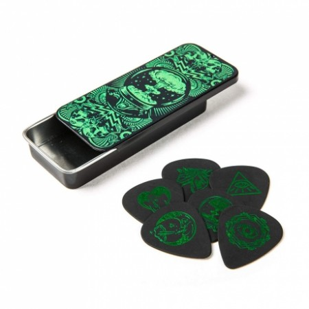 Jim Dunlop - Jim Dunlop Tortex Standard Pitch Black-I Love Dust Green Kutu Pena
