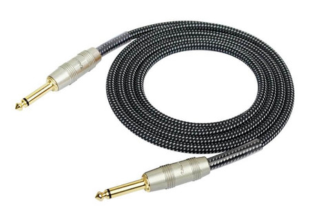 Kirlin IW-241PRG Örgü Kaplamalı Siyah 3 Metre Enstrüman Kablosu - Thumbnail