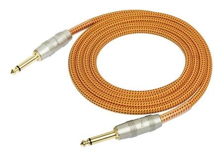 Kirlin - Kirlin IW-241PRG Örgü Kaplamalı Turuncu 3 Metre Enstrüman Kablosu