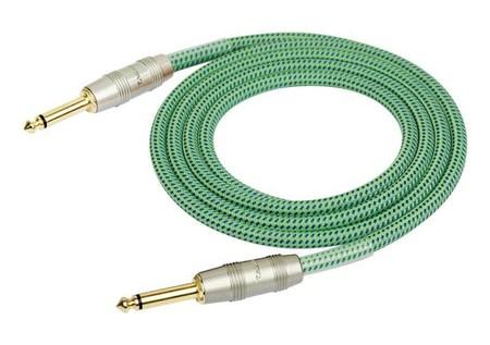 Kirlin - Kirlin IW-241PRG Örgü Kaplamalı Yeşil 3 Metre Enstrüman Kablosu