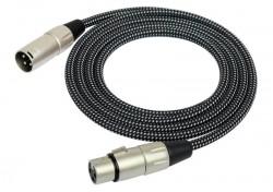 Kirlin - Kirlin MW-480-BK Örgü Kaplamalı 3 Metre Mikrofon Kablosu