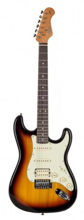Kozmos - Kozmos KST-62HSS-GRWN-3TS 62 Stratocaster HSS Sunburst Elektro Gitar