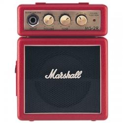 Marshall - Marshall MS-2R Pilli Mini Elektro Gitar Amfisi