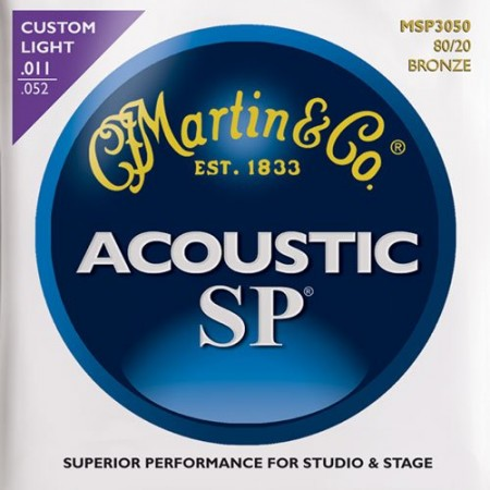 Martin - Martin Bronze MSP3050 Custom Light Akustik Gitar Teli