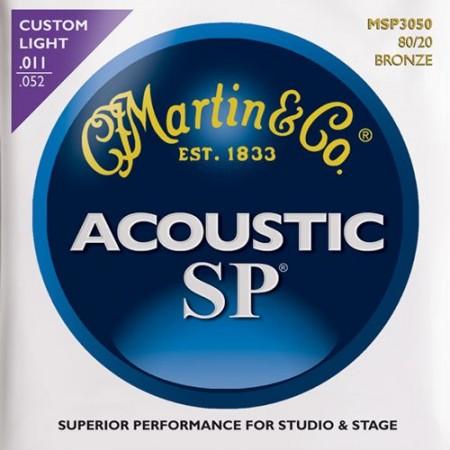 Martin - Martin Bronze MSP3050 Custom Light Akustik Gitar Teli