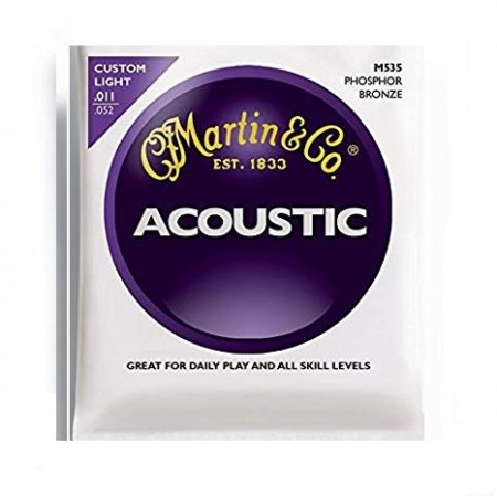 Martin - Martin & Co Martin Phosphor Bronze M535 11-52 - Akustik Gitar Teli