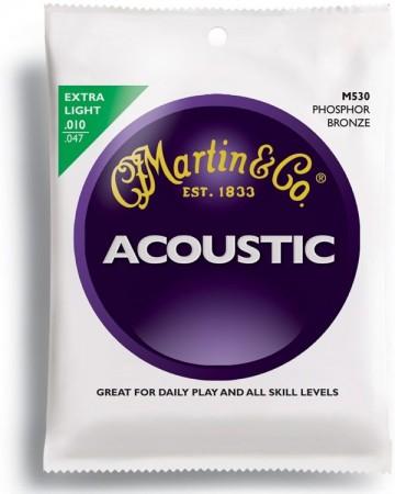 Martin - Martin M530 - Phosphor Bronze (10-47) Extra Light - Akustik Gitar Teli