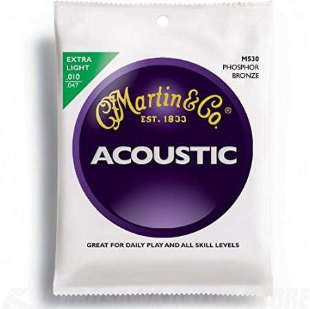 Martin - Martin M530 Phosphor Bronze Extra Light 10-47 Akustik Gitar Teli