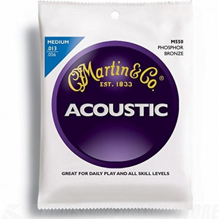 Martin - Martin M550 - Phosphor Bronze (13-56) Medium - Akustik Gitar Teli