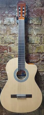 Nevada - Nevada Sap Çelikli Cutway Naturel Klasik Gitar