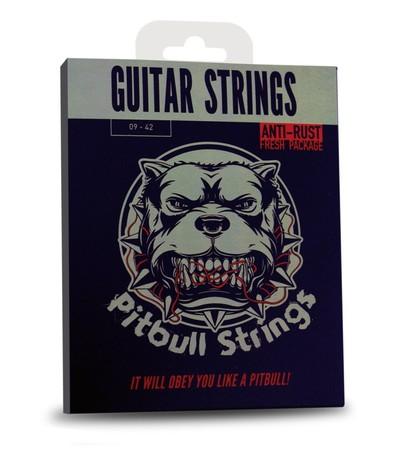 Pitbull Strings Gold Series GEG SL Super Light 09-42 Elektro Gitar Teli - Thumbnail