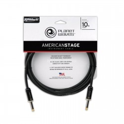 PlanetWaves - PlanetWaves PW-AMSG-10 Amerikan Stage Serisi 3m Siyah Düz Uçlu Enstrüman Kablosu