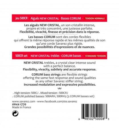 Savarez New Cristal Corum Normal Tension 500CR - Thumbnail