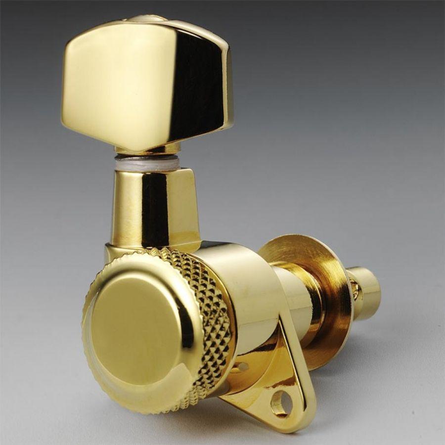 Schaller M6 Kilitli Gold 3+3 Elektro-Akustik Burgu Takımı