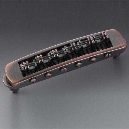 Schaller - Schaller STM Tune-O-Matic Les Paul Stil Gitar Köprüsü (Vintage Copper)
