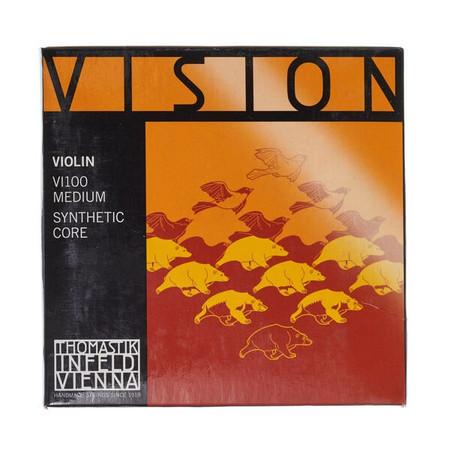Thomastik - Thomastik Infeld Vision VI100 Medium, 4/4 Keman İçin Tel Seti